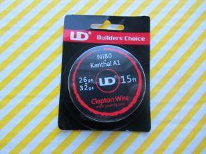 UD Clapton Wire 26ga(Ni80 0.4)+32ga(Kaнтал 0.2)